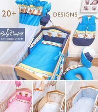 NURSERY COT & COT BED BEDDING SET 3 PCS 6 10 PIECE SHEET DUVET BUMPER CANOPY
