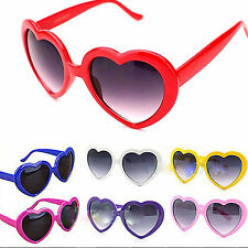 Pop Vintage Retro Lolita Heart Shaped Aviator Metal Frame Women Sunglasses Gift