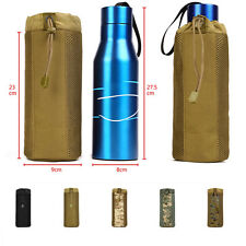Unsex Molle Tactical Hiking Mesh Bottom Water Bottle Pouch Bag Buckle Adjustable