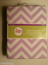 Circo Fitted Baby Crib sheet Woven 100% Cotton -Purple