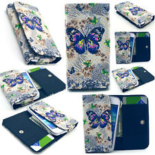 Butterfly Card Wallet Leather Case Cover For Phone Samsung LG Sony Huawei