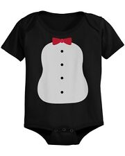 Penguin Costume Baby Bodysuit Black Infant Snap On Onesie Perfect for Halloween
