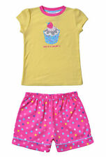 Pyjamas Girls Summer PJs (sz 3-7)  Cute as a Cupcake Yellow Sz 3 4 5 6 7