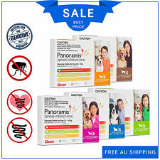 Panoramis Chewable for dogs all sizes 6 chews Flea & Worm treatment by Elanco