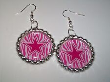 DALLAS COWBOYS BOTTLE CAP EARRINGS 1 PAIR HANDMADE