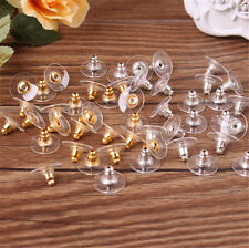 50pc Earring Backs Stoppers Findings Ear Post Nuts Jewelry Findings Gold/Silver