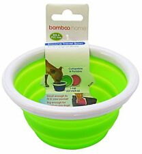 Bamboo Home Portable Collapsible Silicone Travel Bowl