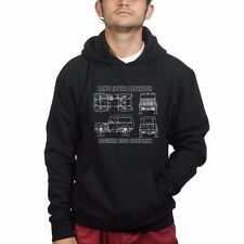 Land Rover Defender 90 110 Blueprint Mens Sweatshirt Hoodie Hoody
