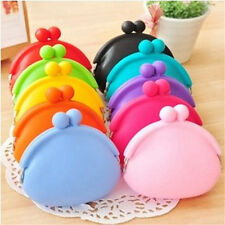 1PC Silicone Round Coin Purse Wallet Card Rubber Key Phone Frog Design Bag Pouch