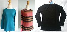 *NWT Patagonia Women Organic Cotton L/S AU BATEAU TOP Striped Stretchy Tee S M