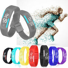 2016 Boy's Girl's LED Silicone Rubber Band Led Digital Sport Quartz Wrist Watch