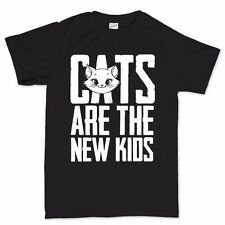 Cats Are The New Kids Mens Funny T shirt - Womens Kids Sizes