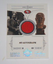 49ers Joe Perry 2011 National Treasures Emblems of The Hall Jersey card #22/25