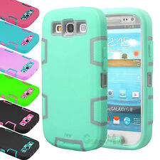 Hybrid Rubber ShockProof Protective Hard Case Cover For Samsung Galaxy S3 i9300