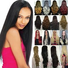 3/4 Wig Fall Half Wig Clip In Hair Piece Long Straight Curl Wavy Free Shipping