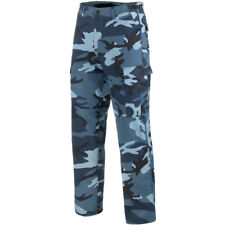 Mens US BDU Combat Cargo Army Military Trousers Pants Skyblue Camouflage : S-3XL