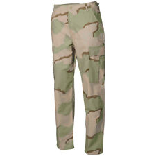 Army BDU Ripstop Trousers Mens Combat Work Wear Cargo Pants 3-Colour Desert Camo