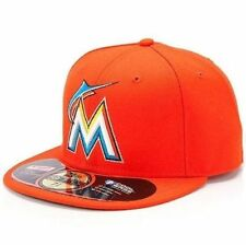 Adult MLB® New Era® Miami Marlins On-Field Orange 59Fifty™ Fitted Hat Cap Size