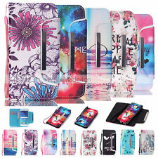 Vogue Design Card Wallet Body Leather Flip Stand Case Cover For Samsung