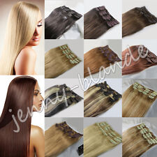 """15""""18""""20""""22""""24""""26""""28"""" 7PCS 100% Clip In Remy Human Hair Extension 70/80/100/120g"""