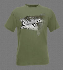 Largemouth Bass Head Portrait Fishing T-shirt