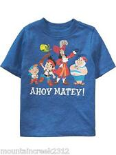 Disney PIRATES Boys Shirt Size 12 18 months Old Navy Short Sleeve Tee Blue New