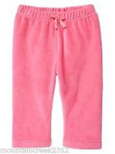 New BABY GAP Girls ~ Soft Velour Pull On Pants - Pink ~ 0 3 months Infant