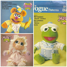1980s Vogue Craft Jim Henson's Muppet Babies Sewing Patterns – Take your pick