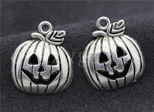 10/40/200pcs Tibetan Silver Exquisite Pumpkin head Jewelry Charm Pendant 18x15mm