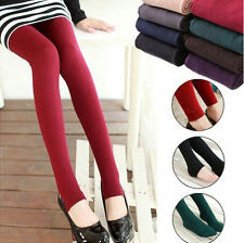 Fashion Footless Slim Tight Women's Winter Thick Warm Stretch Legging Pants
