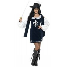 Musketeer Costume Adult Female Halloween Fancy Dress
