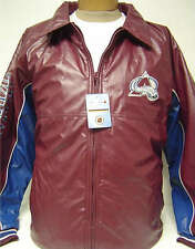 NEW! Colorado Avalanche Faux Leather Zip up NHL Jacket Hockey