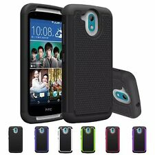 NEW Rugged Hybrid Armor Hard Protective Case Impact Cover For HTC Desire 526