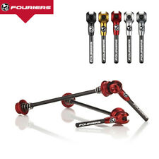 Set Fouriers Titanium Ti Axel Carbon Lever Skewer MTB Road Bike QR Quick Release