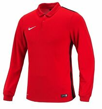 NIKE Dri Fit Soccer Jersey Challenger L/S AUTHENTIC Football Sports Red Shirt