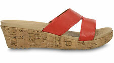 New Womens Crocs A-leigh Leather Mini Wedge Sandals Shoes Size 6 7 8 9 10 11