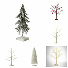 NEW Heaven Sends SMALL CHRISTMAS TREE White Snow Birch Pine LED LIGHTING Lights