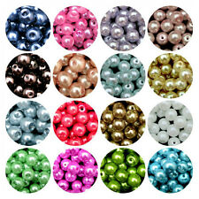 100 Quality Charm Czech Glass Pearl Round Spacer Bead Finding 4/6/8/10/12mm DIY