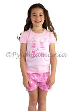 Pyjamas Girls Summer Short (sz 3-7) Pjs Set Pink Cats Sz 3 4 5 6 7