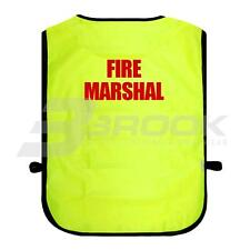 PRINTED FIRE MARSHAL HIGH VISIBILITY TABARD HI VIS VIZ SAFETY WAISTCOAT