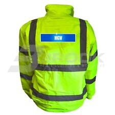 REFLECTIVE HIGH VISIBILITY HGV BOMBER JACKET HI VIS VIZ SAFETY