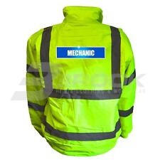 REFLECTIVE HIGH VISIBILITY MECHANIC BOMBER JACKET HI VIS VIZ SAFETY