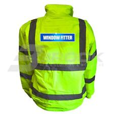 REFLECTIVE HIGH VISIBILITY WINDOW FITTER BOMBER JACKET BOMBER JACKET HI VIS VIZ