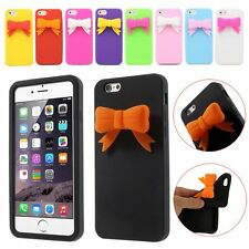 Cute 3D Bowknot Soft Silicone Cover Case Shell for Apple iPhone 6 6s Plus 5 5s