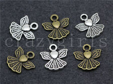20/80/400pcs Tibetan Silver Beautiful Little Angel Jewelry Charm Pendant 12x11mm