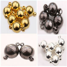 6mm 8mm 10mm Silver Gold White K Gun Black Ball Round Strong Magnetic Clasps