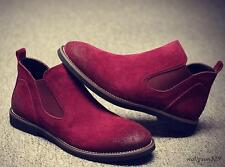 Mens Ankle Chelsea Boots Dress or Casual Shoes suede Leather dress shoes New