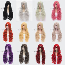 20%off Layer Wavy Cosplay Wigs Daily Straight Curly Full Wig Heat Resistant Hair