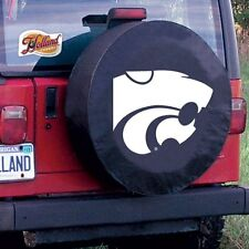 Kansas State Tire Cover with Wildcats Logo on Black Vinyl