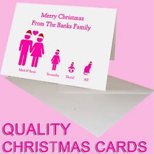PERSONALISED CHRISTMAS CARD FOR AUNTI UNCLE FAMILY